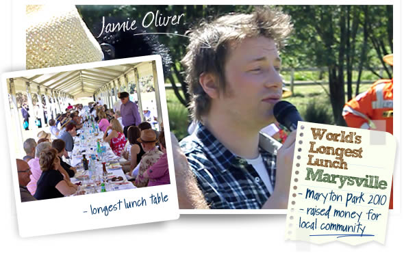 jamie oliver hero Jamie Oliver at the Worlds Longest Lunch   Marysville